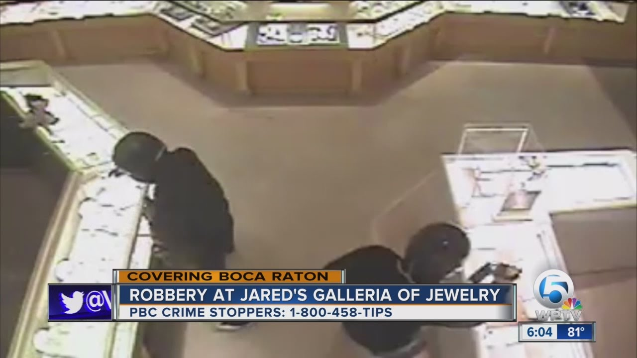 Robbery at Jareds Galleria of Jewelry YouTube