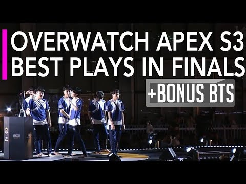 Overwatch Gameplay - APEX S3 Best Plays in Finals ft Ryujehong Ana Miro Winston | Lunatic-Hai vs KDP