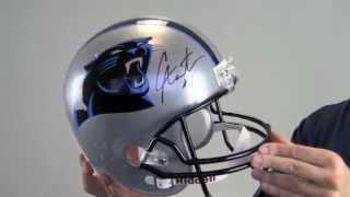 autographed cam newton helmet replica newton holo