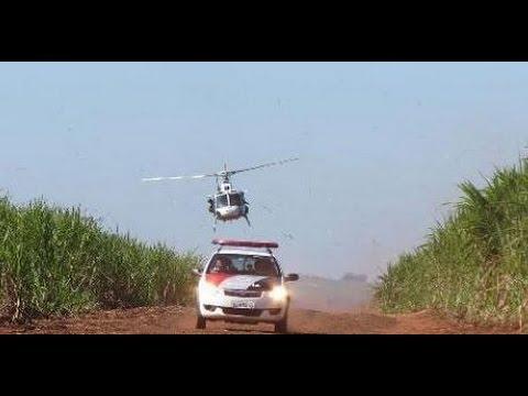 Avião cai em Itapira e Helicóptero águia encontrou aeronave bimotor