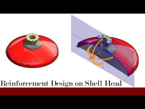 Torispherical head with reinforcement plate