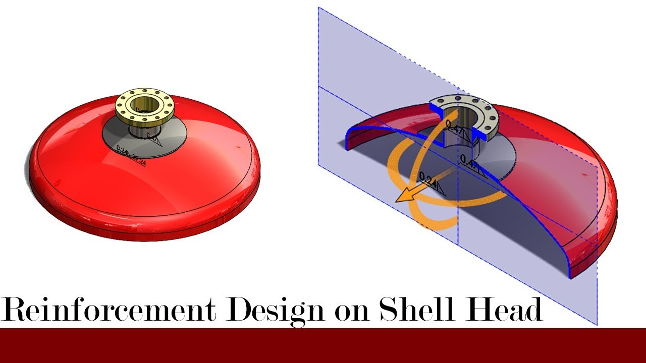 Repeat Torispherical head with reinforcement plate by DesiGn