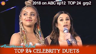 "Jurnee and Lea Michelle Duet ""Run""  AMAZING JURNEE Top 24 Celebrity Duets American Idol 2018"