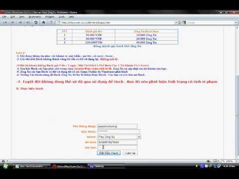 Hướng Dẫn Hack Zing Xu VinaGame Trực Tuyến ! Www.NhocVcoin.Co.Cc