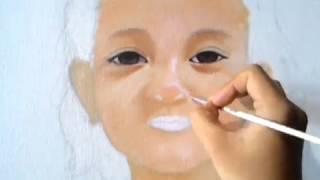 Video Portrait painting oil on canvas (lukis wajah cat minyak diatas kanvas) download MP3, 3GP, MP4, WEBM, AVI, FLV Juli 2018