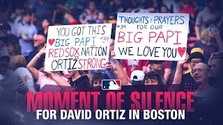 Red Sox hold moment of silence for David Ortiz
