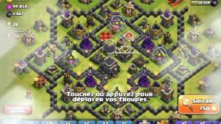 Présentation et attaque en live -Clash of clans-