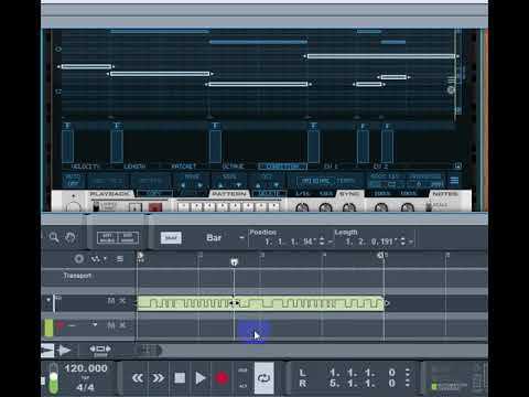 Recording Robotic Bean's Sequences Fill Lane - Reason Studios