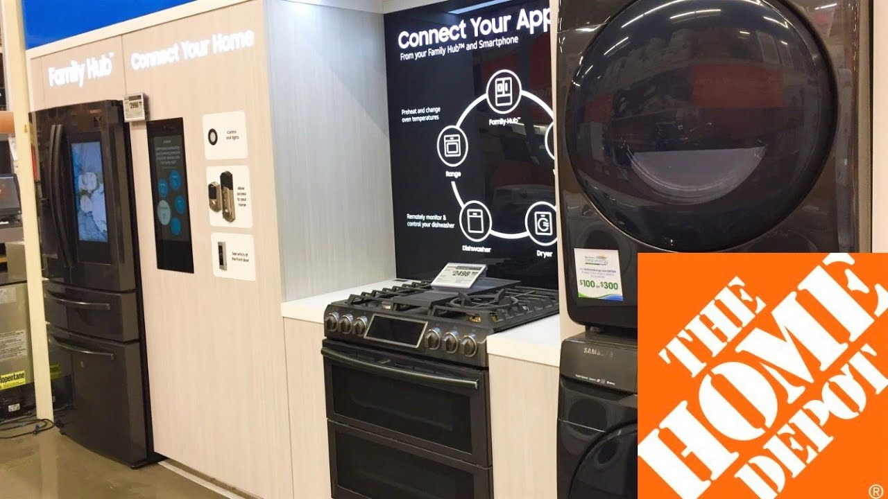 Home Depot Kitchen Appliances Refrigerators Washers Dryers Shop With Me Shopping Store Walk Through Youtube