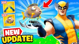 *NEW* WOLVERINE UPDATE is OP in Fortnite! (MIDAS Fish FOUND)