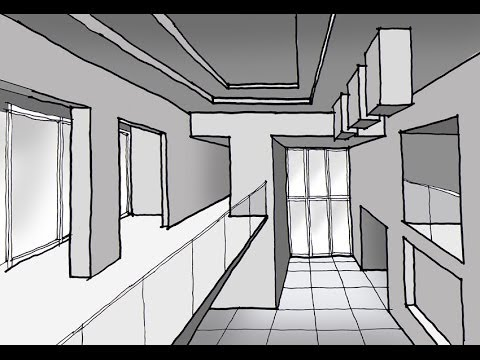 Como dibujar un espacio interior a doble altura con 1 for Espacio interior