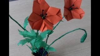3d Origami - Flower - Poppy - Mak Polny - How To Make