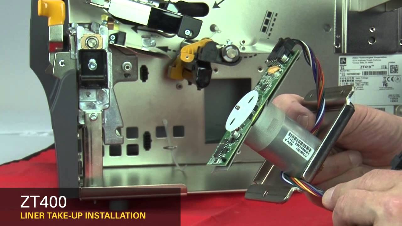 Zebra ZT400 Series: How-to Install Liner Take-up - YouTube