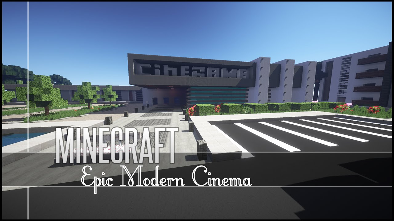 Minecraft Build Review Epic Modern Cinema Youtube
