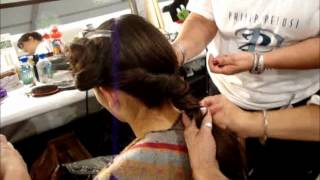 Venexiana Backstage Neo Gatsby Hair Twisted Nape Bun MBFW NY SS 2012 Anastasia Lambrou Thumbnail
