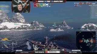 100% ПОБЕД World of Warships Missouri vs Musashi