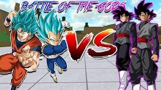 2v2 SSJB GODS VS SSJR GODS | DRAGON BALL Z FINAL STAND | Roblox |