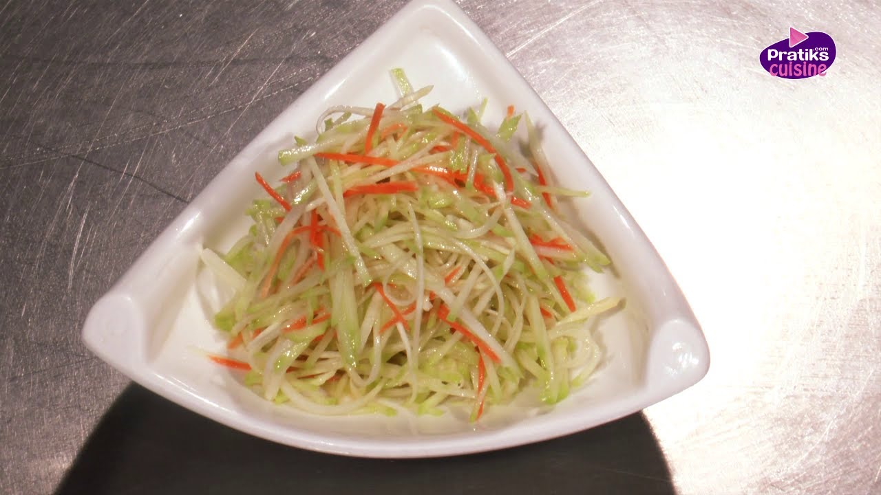 Cuisine Chinoise  Comment cuisiner une salade de chayotte  YouTube