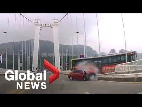 Fight between bus driver, passenger led to deadly crash in China