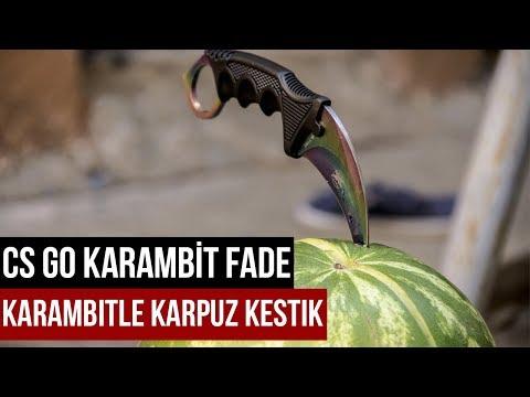 Gerçe Hayatta CS GO Karambit Fade - Karambitle Karpuz Kesmek  !