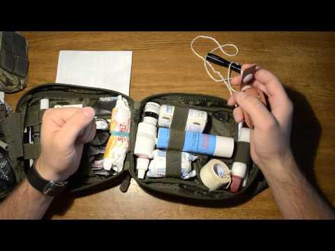походная аптечка и городская, первой помощи.\ Army First Aid Kit