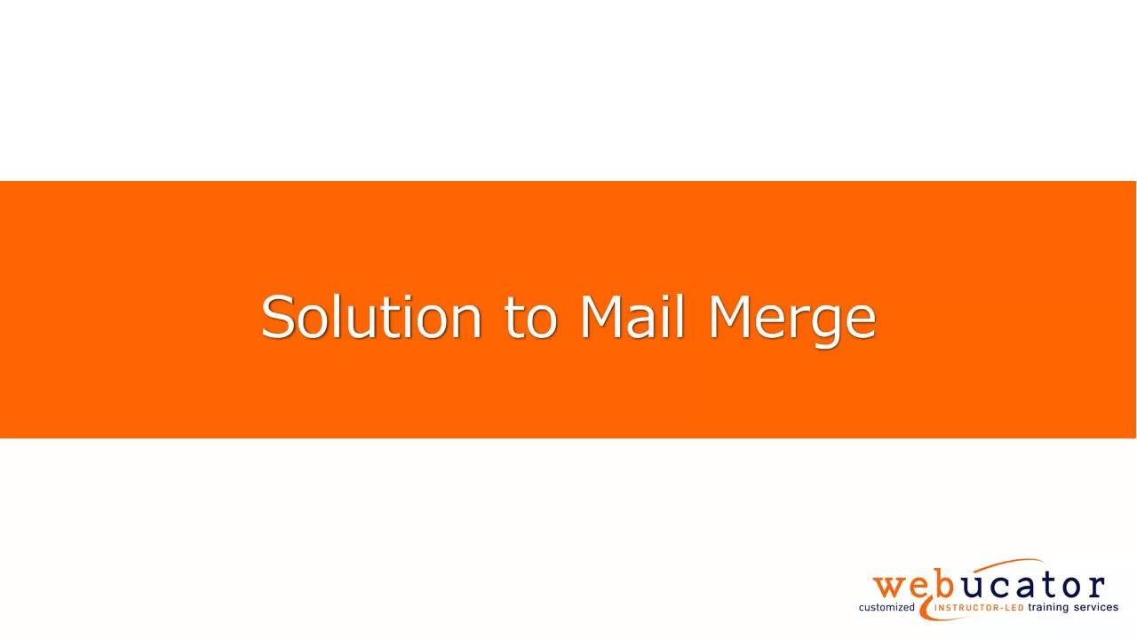How to Use Mail Merge in Microsoft Word   Webucator