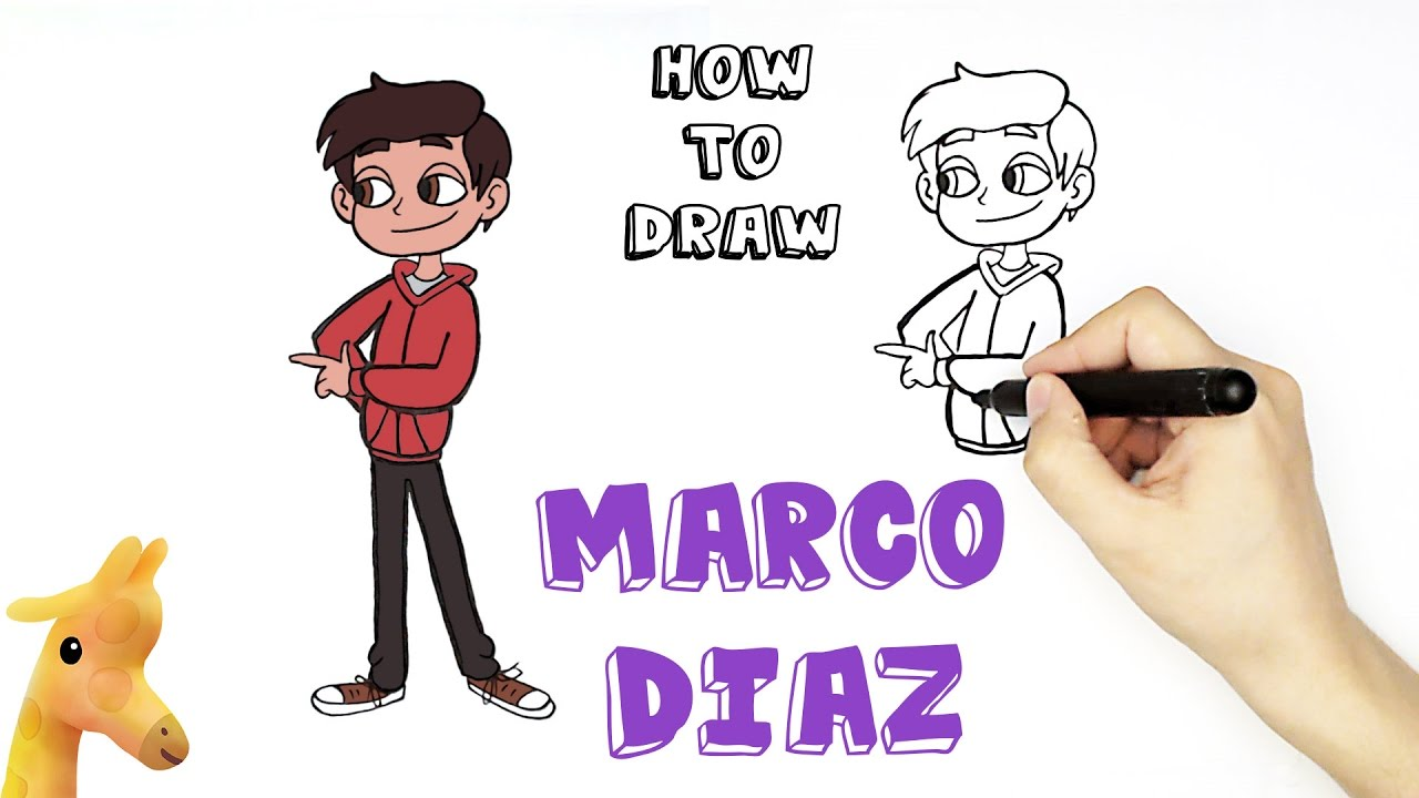 How to draw Marco Diaz - YouTube