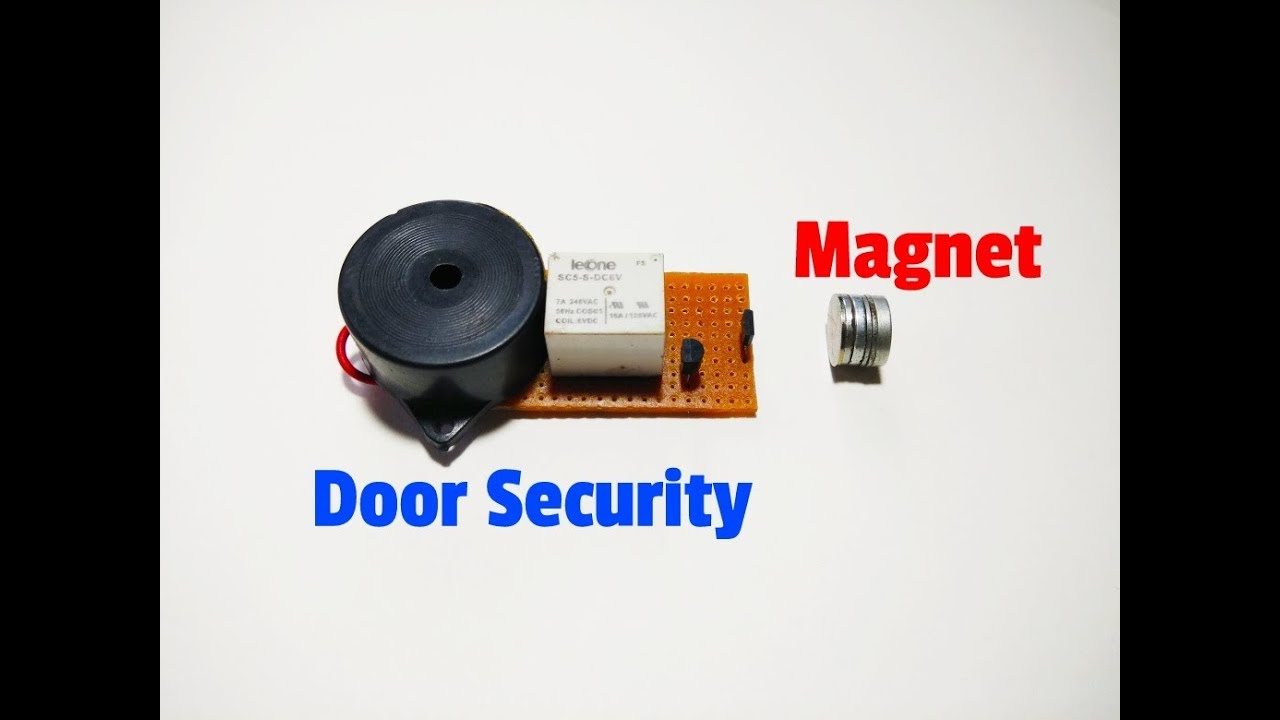 How To Make A Magnetic Door Security Alarm System By Using Hall Sensor Wiring Diagram Burglar Pir Effect Sensorsimple