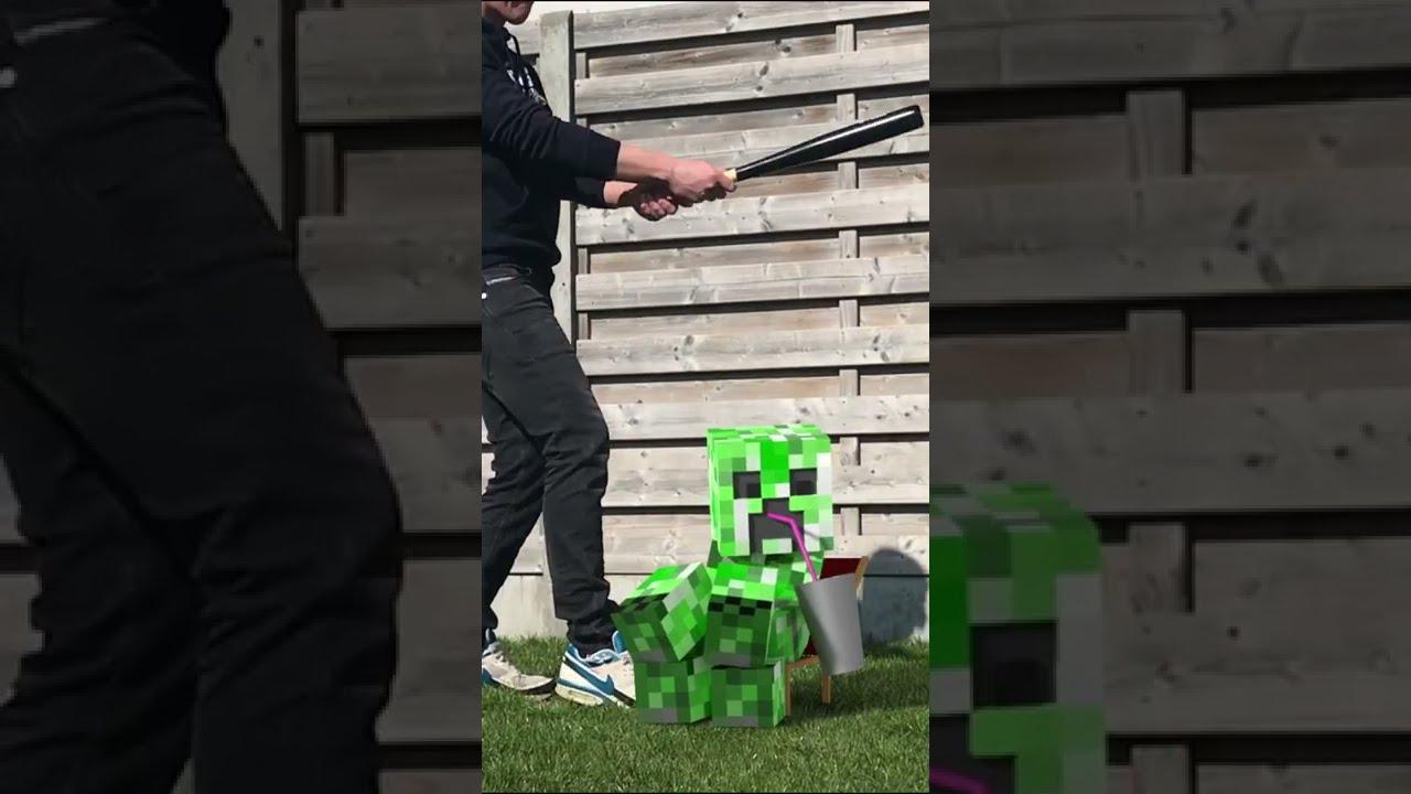 Real Life Minecraft Creeper Animation #short
