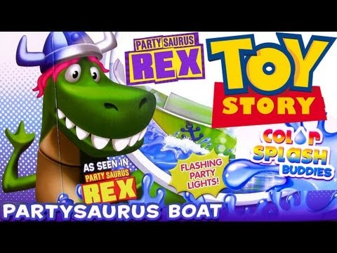 Partysaurus Rex Boat Color Changing Playset Toy Story 4 Color Splash Buddies