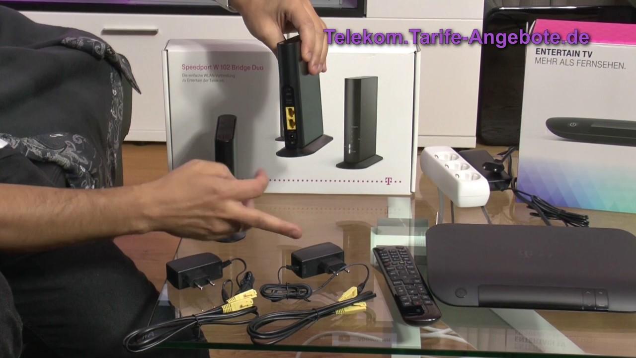 video vorstellung telekom speedport w 102 bridge duo wlan. Black Bedroom Furniture Sets. Home Design Ideas