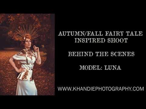 Autumn/Fall Fairy Tale Inspired Fashion Editorial Shoot - Behind the scenes! Natural Light