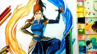 How to Draw Korra - Legend of Korra