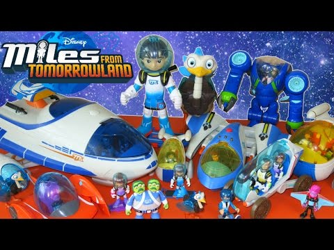 GIANT COLLECTION OF MILES FROM TOMORROWLAND TOYS DISNEY JUNIOR EXOFLEX STARJETTER
