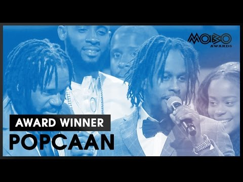 POPCAAN  BEST REGGAE ACT acceptance speech at MOBO Awards    MOBO