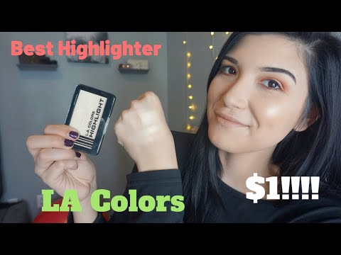 $1 Highlighter!!! Dollar Tree Find! LA Colors Highlight - Shine Bright