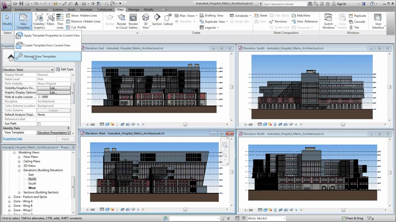 how to make a view template in revit