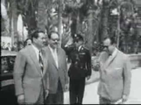 The inauguration of Cairo tower in 1961-افتتاح برج القاهرة عام 1961
