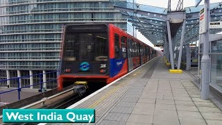 West India Quay : London DLR ( B2K - B90 - B07 - B92 Stock )