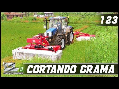 CORTANDO GRAMA PARA SILAGEM! | FARMING SIMULATOR 17 PLATINUM EDITION #123 [PT-BR]