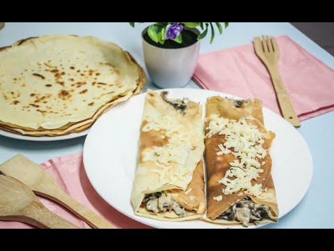 recette-crêpes-poulet-champignons-fromage-trop-bonnes-et-très-facile-à-faire-!
