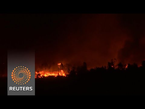 Wildfires rage across western Europe