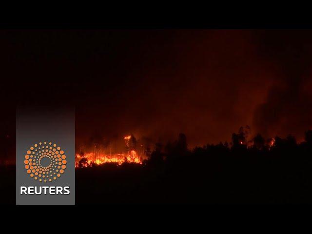 Wildfires rage across western Europe
