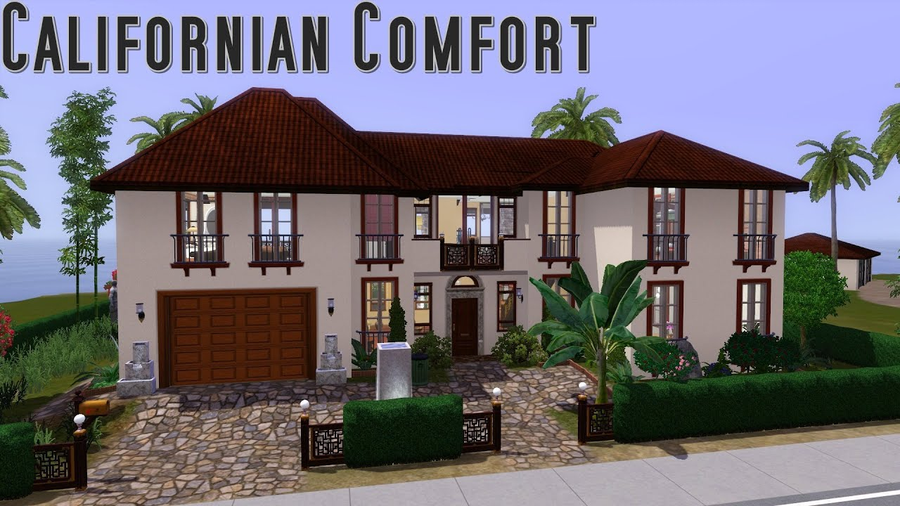 Sims 3 House Building Californian Comfort Walkthrough