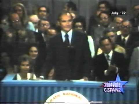 1972 George McGovern Democratic Convention Acceptance Speech