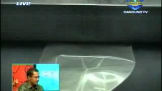 Wawancara Ka. Balai Polimer II dengan Bandung TV mengenai perkembangan Teknologi Polimer