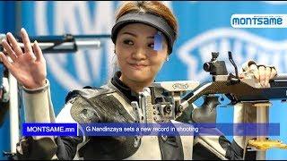 G.Nandinzaya sets a new record in shooting