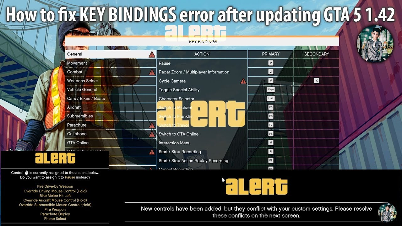 How to fix KEY BINDINGS Error after updating GTA 5 to v1 42 - ||FIXED||