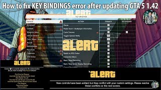 How to fix KEY BINDINGS Error after updating GTA 5 to v1.42  -  ||FIXED||