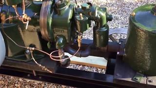 Ruston Hornsby IP Stationary Engine running a bit slower on petrol kerosene mix